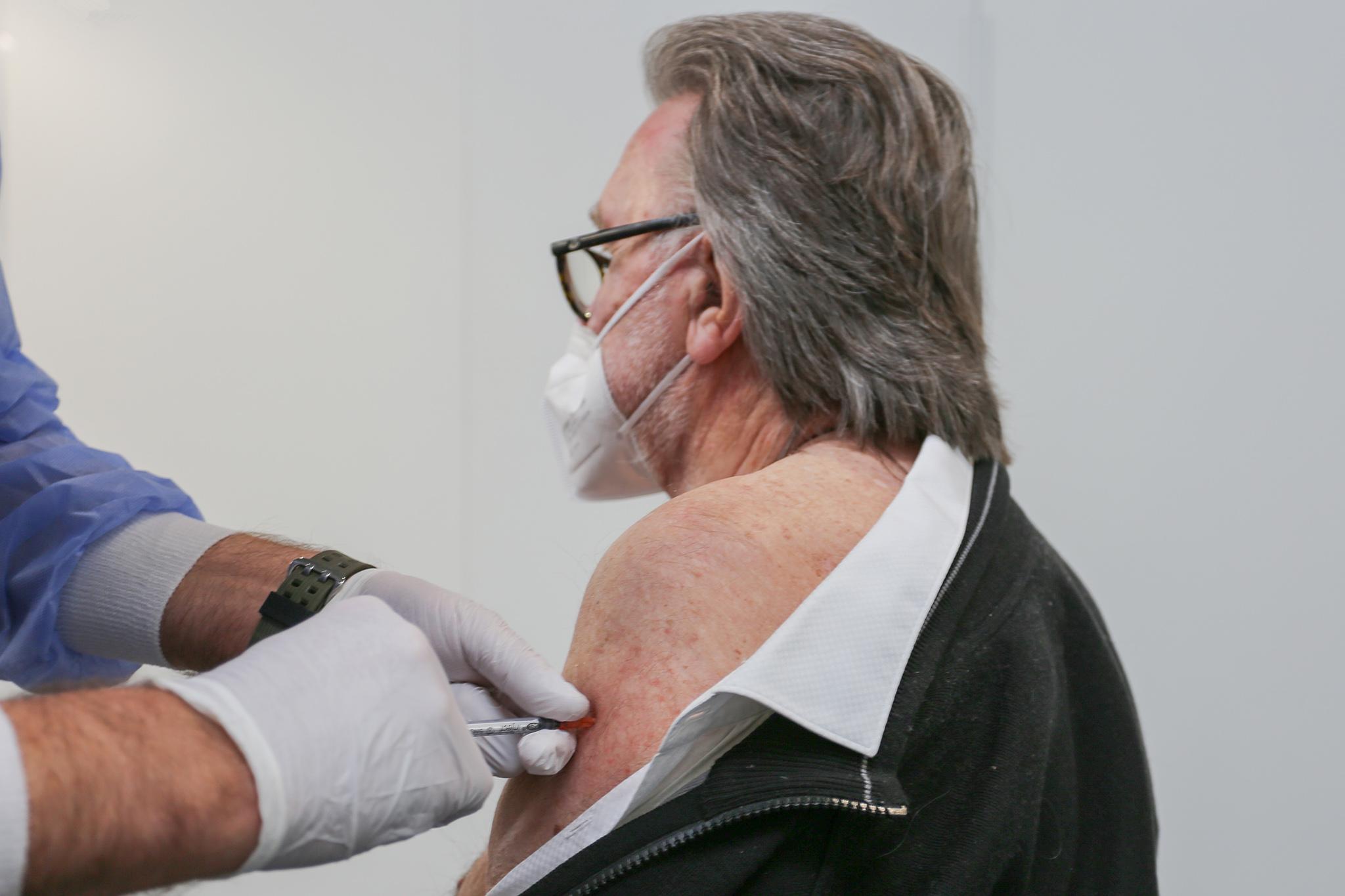 Impfung einer Person