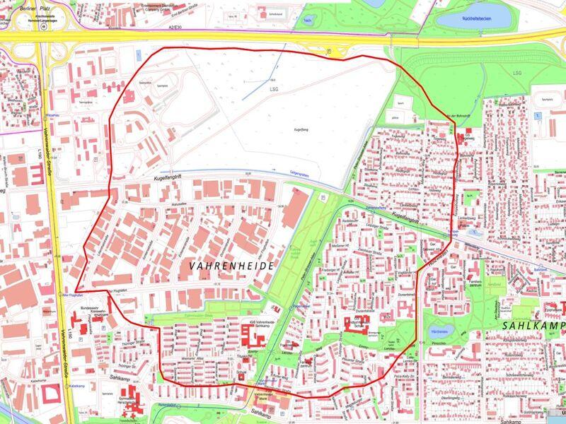 Betroffen von der Evakuierung sind zirka 12.000 Einwohnerinnen und Einwohner in den Stadtteilen Vahrenheide und Sahlkamp.