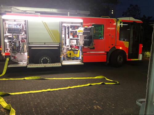 Ein Geschirrspüler brennt im Krankenhaus Friederikenstift
