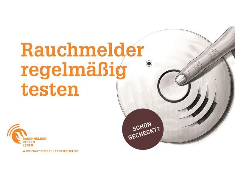 Banner: Schon gecheckt - Rauchmeldertag am 13. Juli 2018