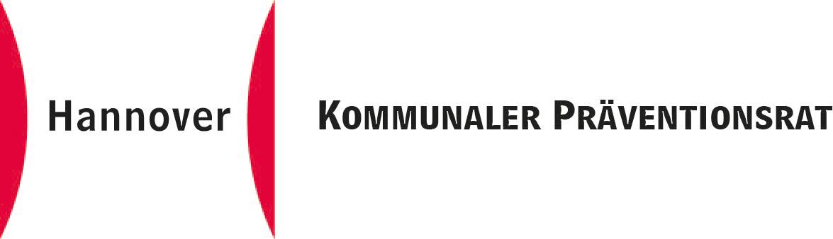 """Schriftzug """"Kommunaler Präventionsrat"""" mit dem Zeichen für die Landeshauptstadt Hannover"""