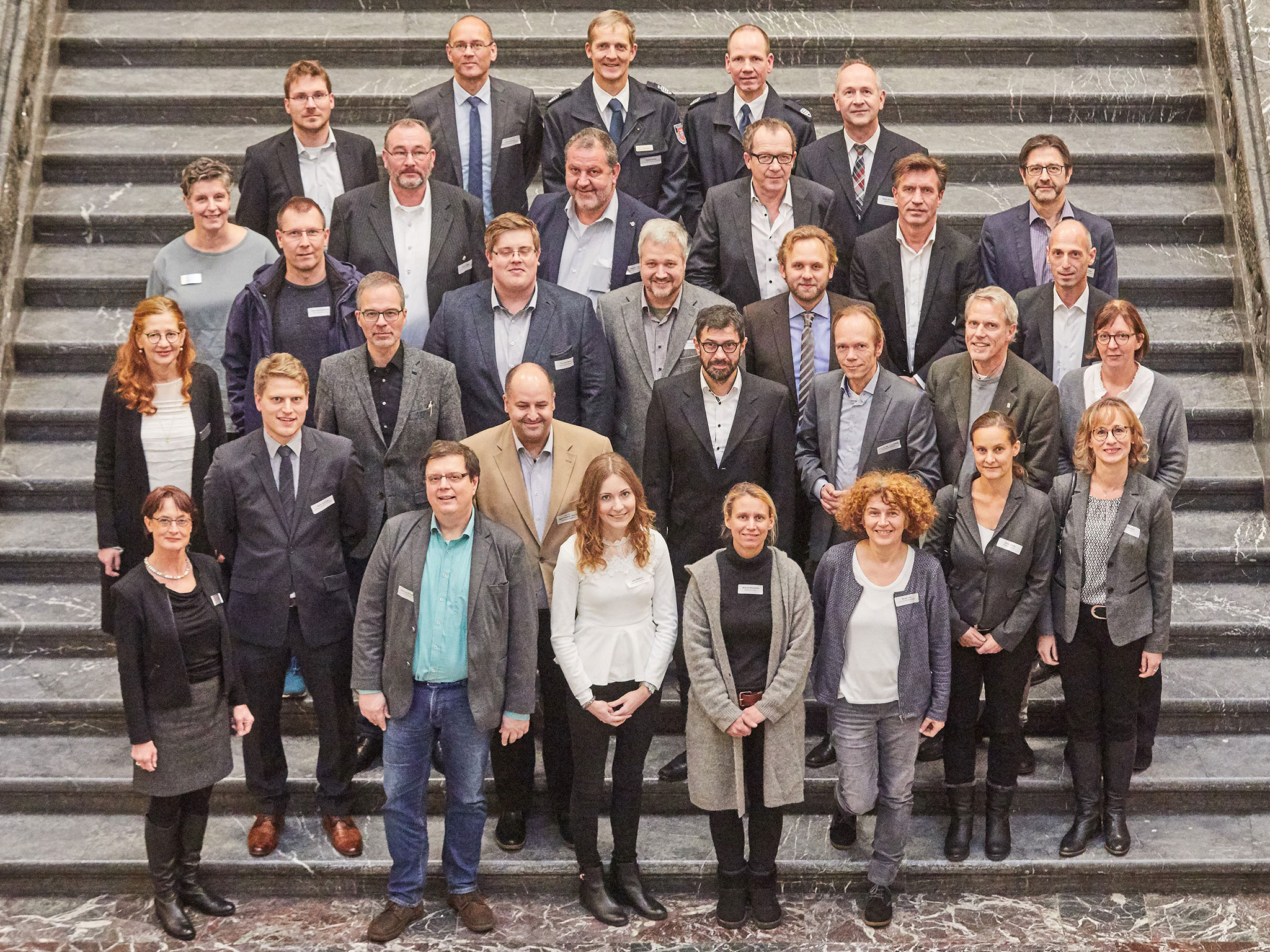 Gruppenfoto der Projektpartner Kick-Off H-stromert