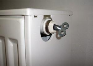Heizung mit Entlüftungsschlüssel