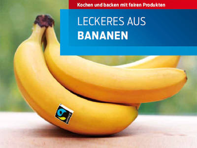 Bananen mit dem Fair Trade Siegel