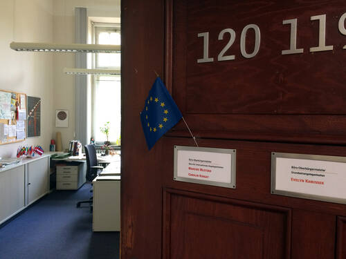 Open door of the International Unit of the City of Hannover
