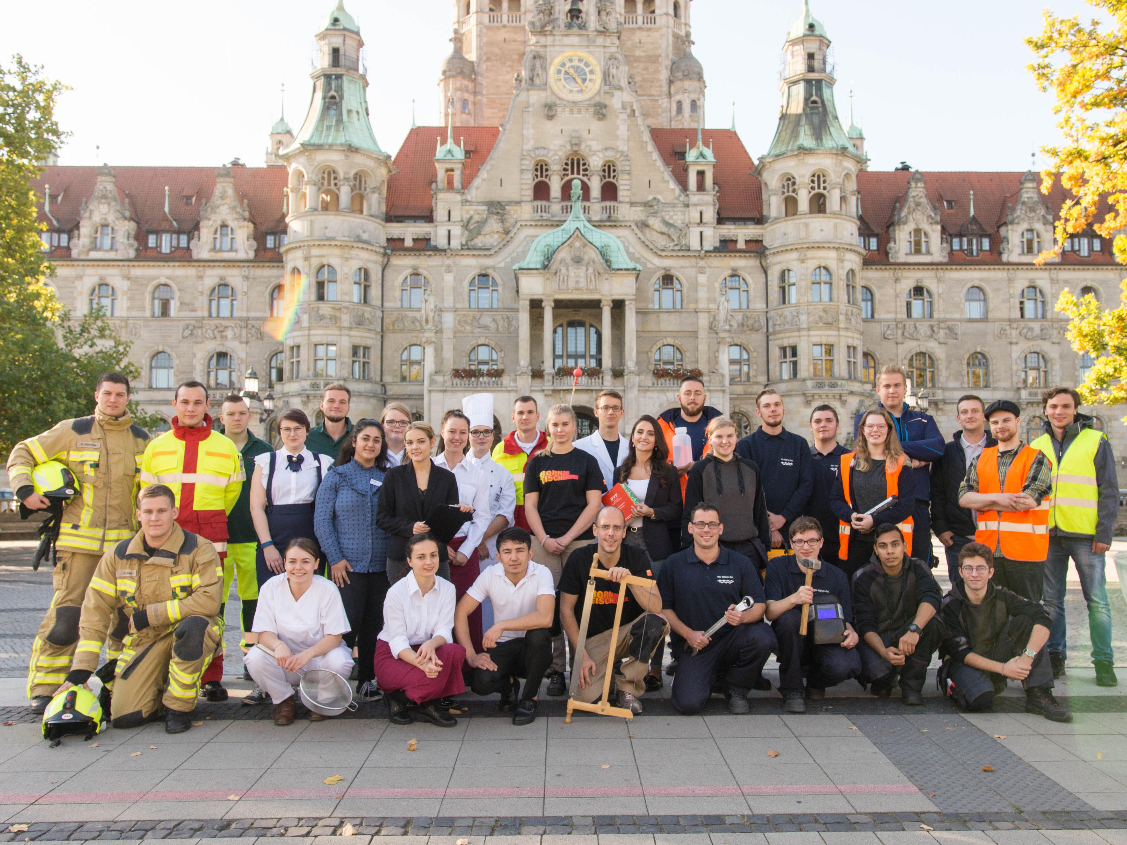 Auszubildende bei der Landeshauptstadt Hannover