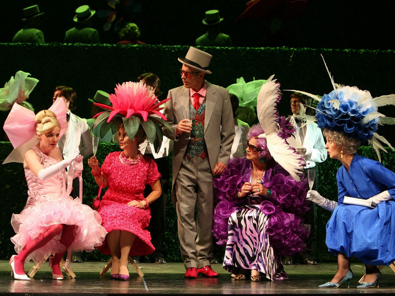 "A scene from the Musical ""My Fair Lady""."