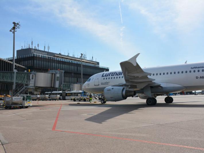 Blick auf den Flughafen Hannover.