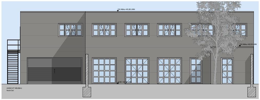 Skizze eines Gebäudes