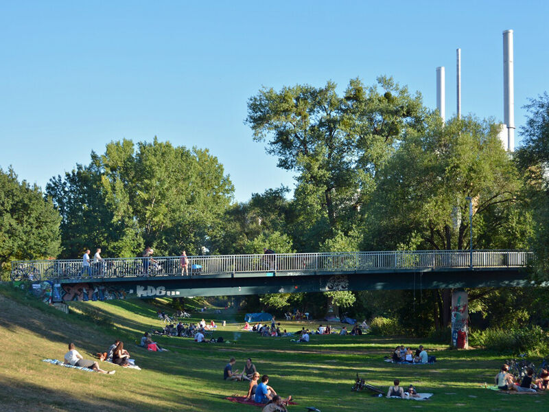 Die Justus Garten Brücke Zehn Brücken In Hannover über Die Man