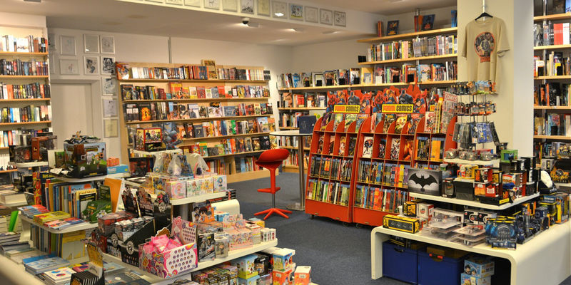"Foto: Die Comic-Buchhandlung ""Comix"" in Hannover."