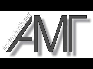 Das Logo von Acht machen Theater: Die Buchstaben A, M und T, die ineinander übergehen.