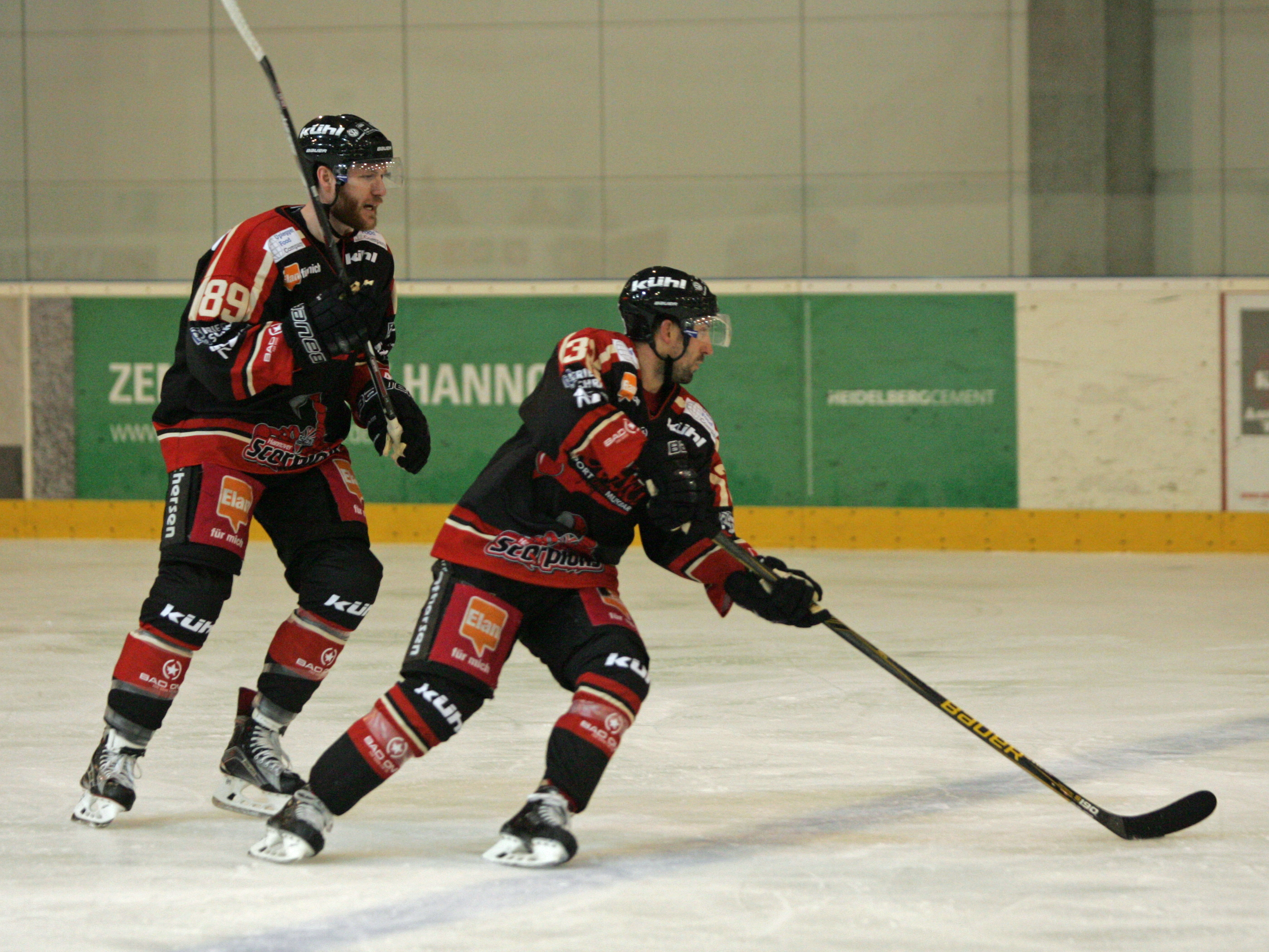 Eishockeyspieler in Aktion.