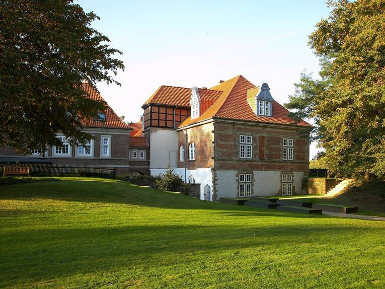 Exterior view of the Landestrost castle