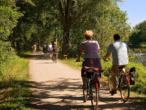 Cycle Track around the Aller River near Celle