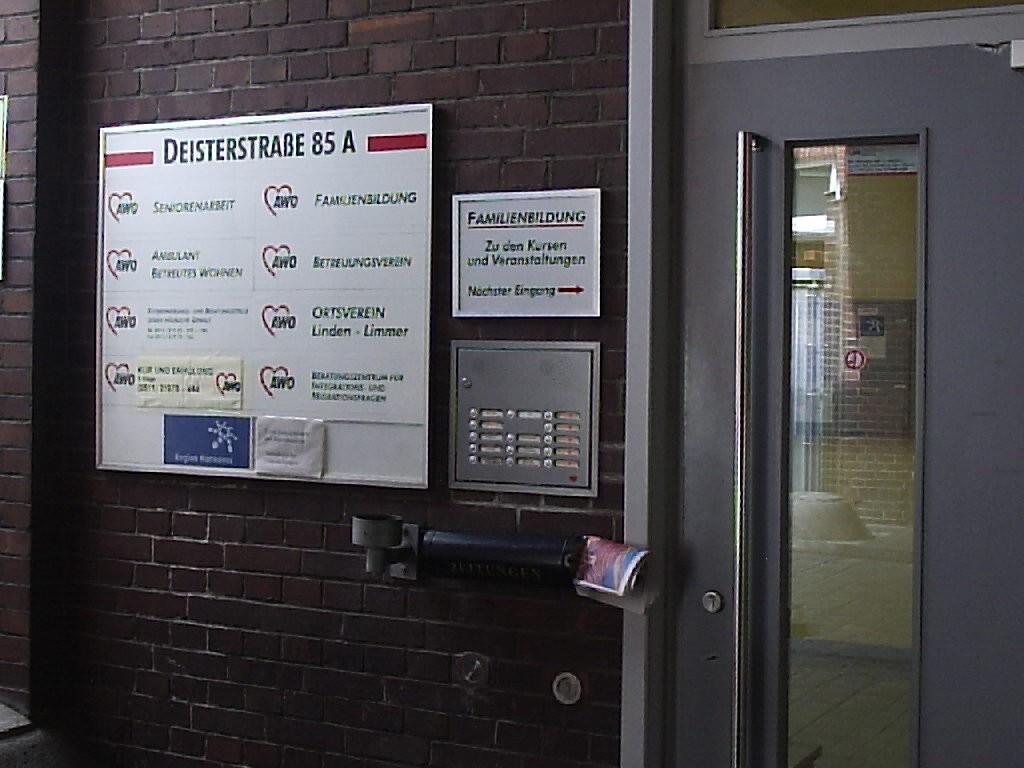 Eingang Beratungsstelle Deisterstraße