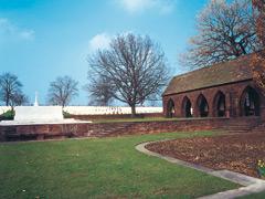Blick über den Englischen Friedhof am Heisterberg